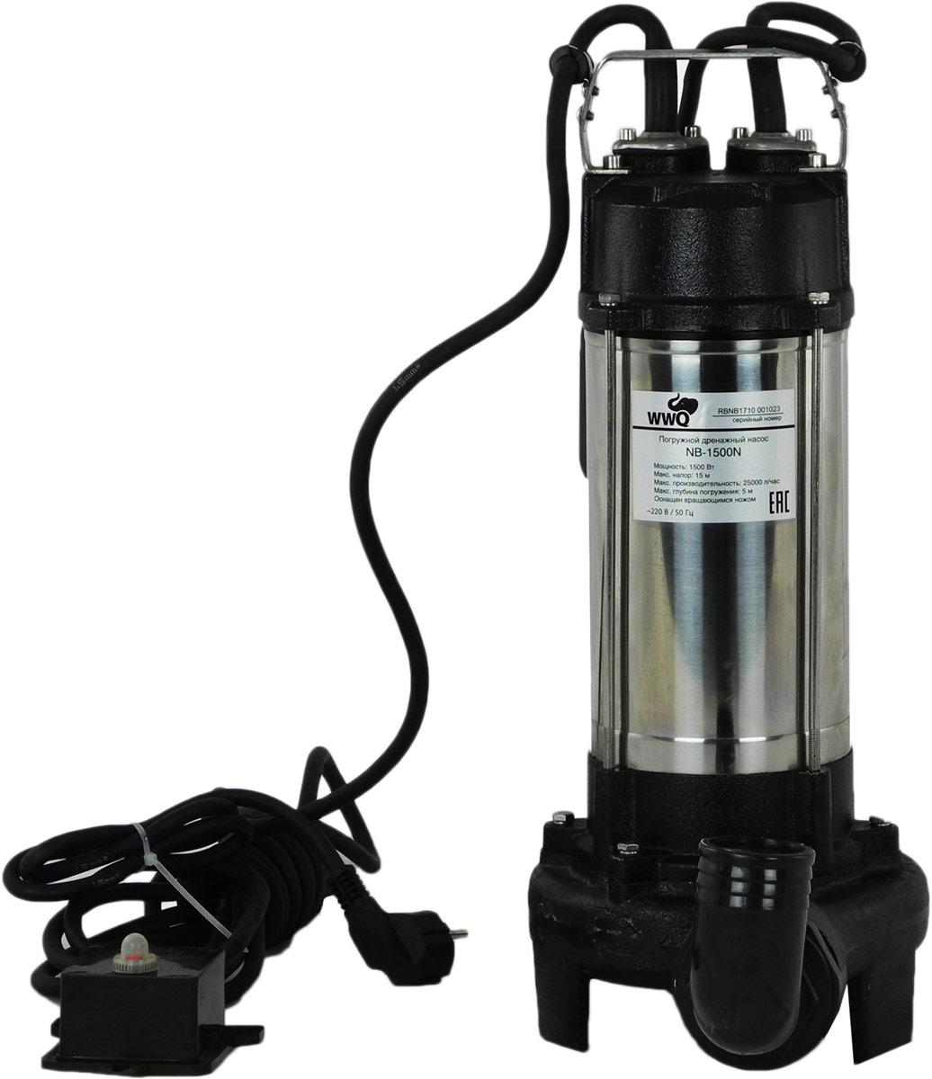 Дренажные чугунные насосы WWQ серии NB*N, служат для перекачивания сильно загрязненных дренажных, дождевых, грунтовых вод из шахт, котлованов, затопленных подвалов и т.д. Чугунный корпус насоса отличается повышенной механической и химической стойкостью. Насосы снабжен встроенным вращающимся ножом, который измельчает крупный мусор, что позволяет использовать данное оборудование для перекачивания канализационных жидкостей. Насосы снабжены поплавковым выключателем и встроенной термозащитой. Насосы требуют напряжения в сети 220В/50Гц.