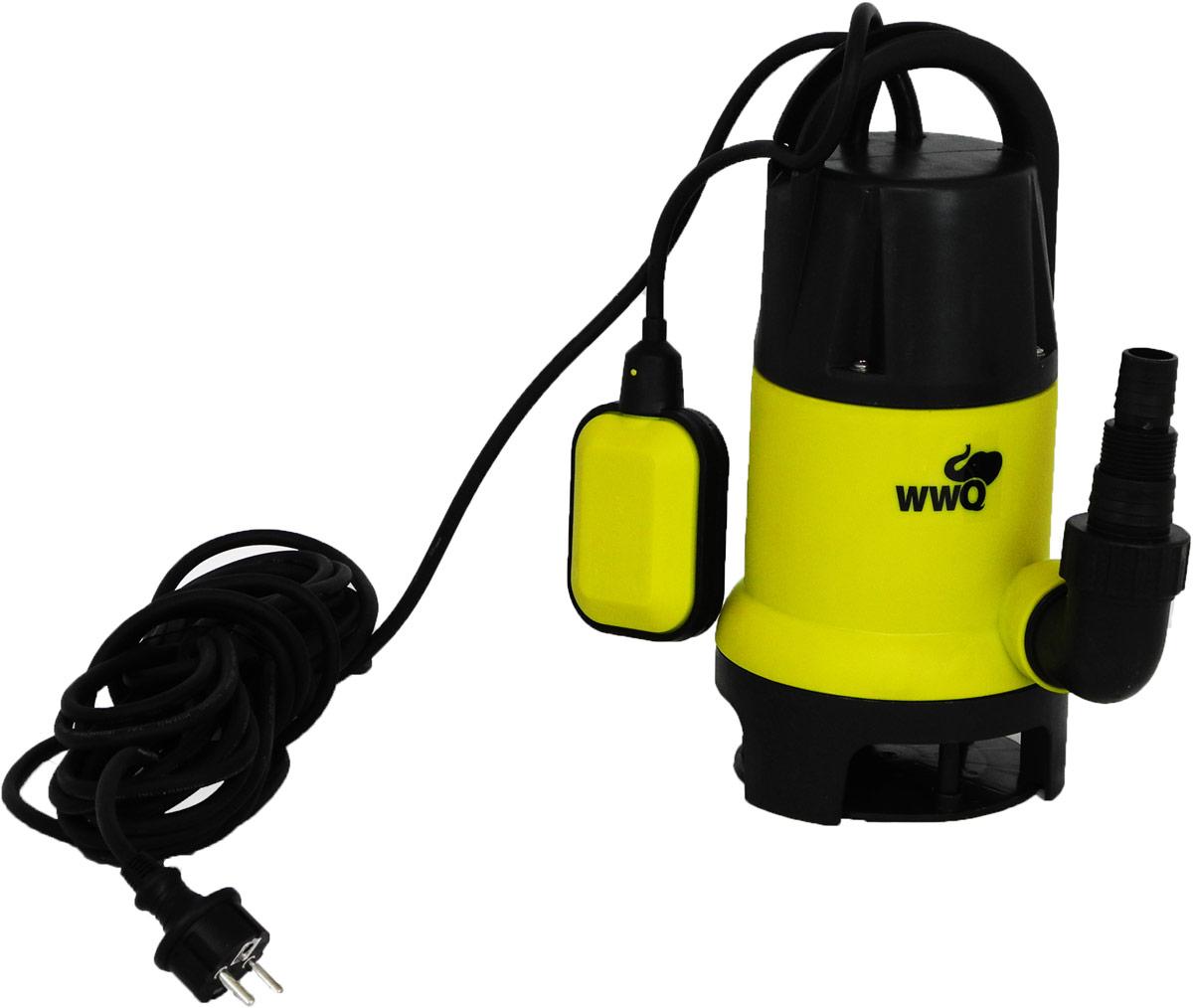 """Дренажный насос WWQ серии NF используется для перекачивания чистых и загрязненных жидкостей, в которых могут присутствовать нерастворимые фрагменты величиной до 35 мм. Насос снабжен поплавковым выключателем, обеспечивающим автоматическое включение и выключение насоса в зависимости от уровня воды. Насос оснащен встроенной термозащитой, которая блокирует работу насоса в случае его перегрева. Насос имеет фиксатор кабеля поплавкового выключателя. Насос требует напряжения в сети 220В/50Гц. Внешние диаметры универсального штуцера: 25/38/G 1"""" мм."""