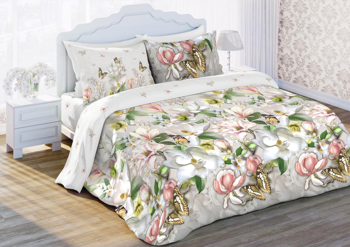 Комплект постельного белья Любимый дом Магнолия, 1,5 спальное, наволочки 70 х 70 любимый дом бязь гладиолусы