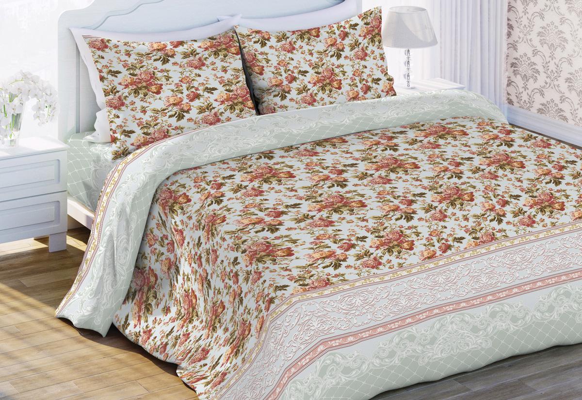Комплект постельного белья Любимый дом Оливия, евро, наволочки 70 х 70 любимый дом бязь гладиолусы