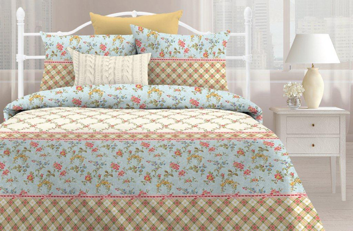 Комплект постельного белья Любимый дом Тоскана, семейный, наволочки 70 х 70 любимый дом бязь гладиолусы