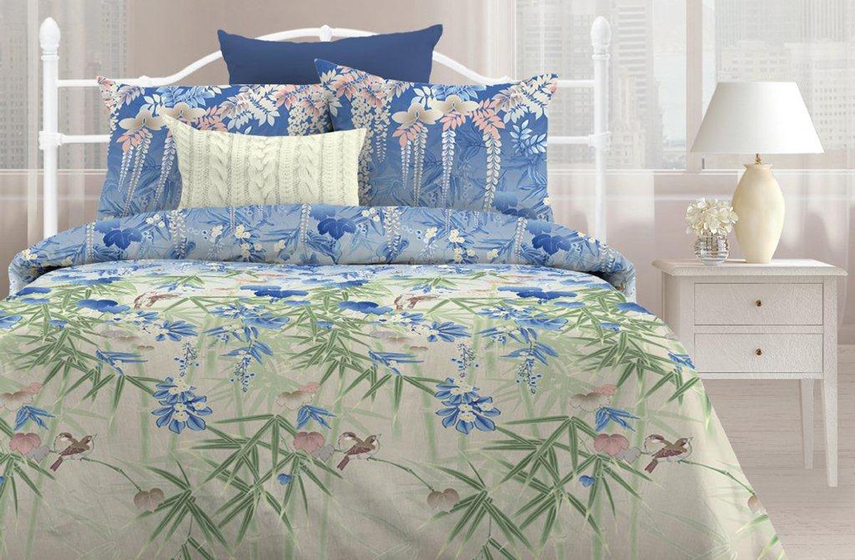 Комплект постельного белья Любимый дом Бамбук, 2-х спальное, наволочки 70 х 70 любимый дом бязь гладиолусы