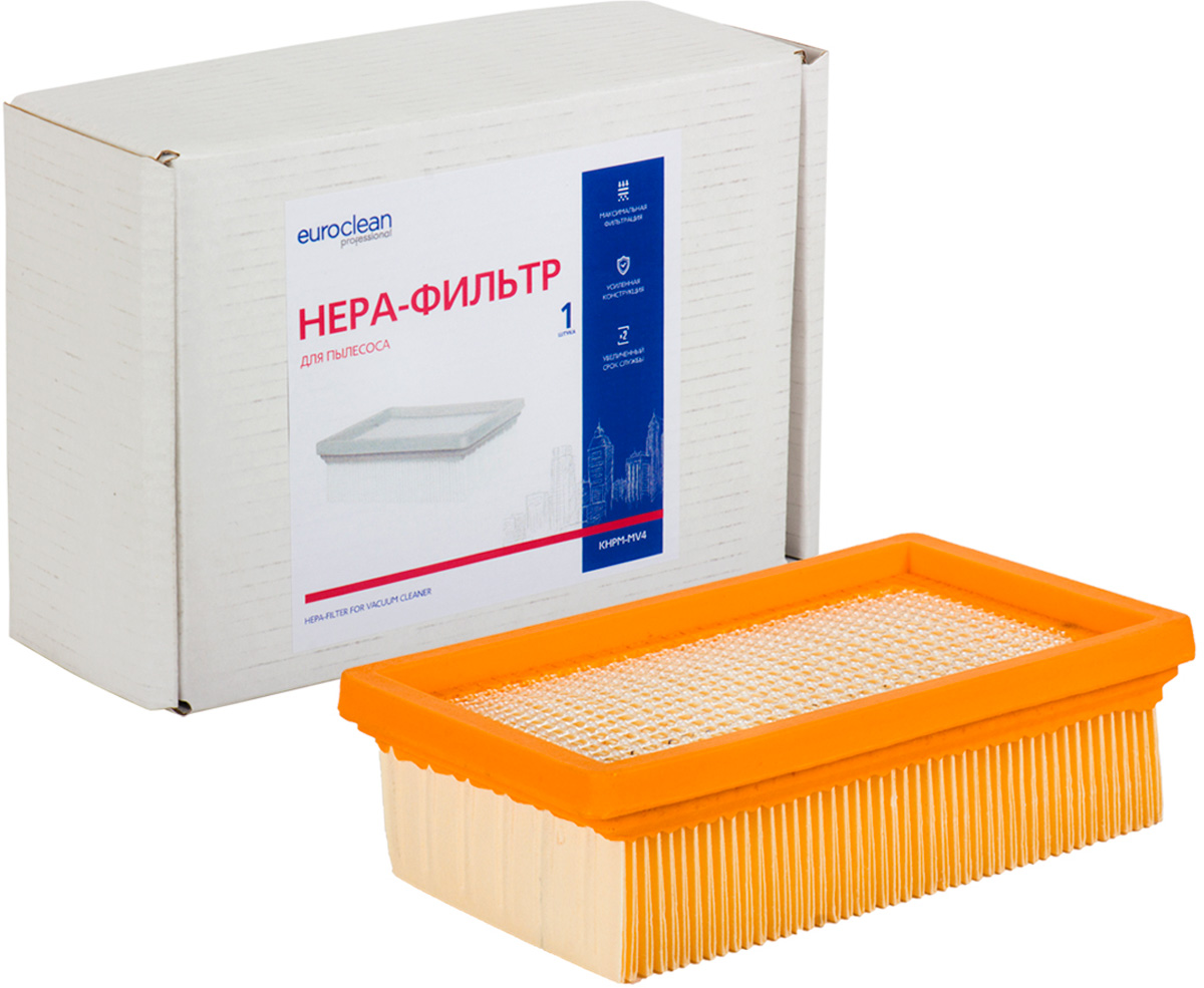 Euroclean KHPM-MV4 фильтр складчатый для сухой пыли к пылесосам KARCHER (аналог 2.863.-005.0) euroclean flsm as20 фильтр складчатый многоразовый моющийся для пылесосов felisatti as20 1200