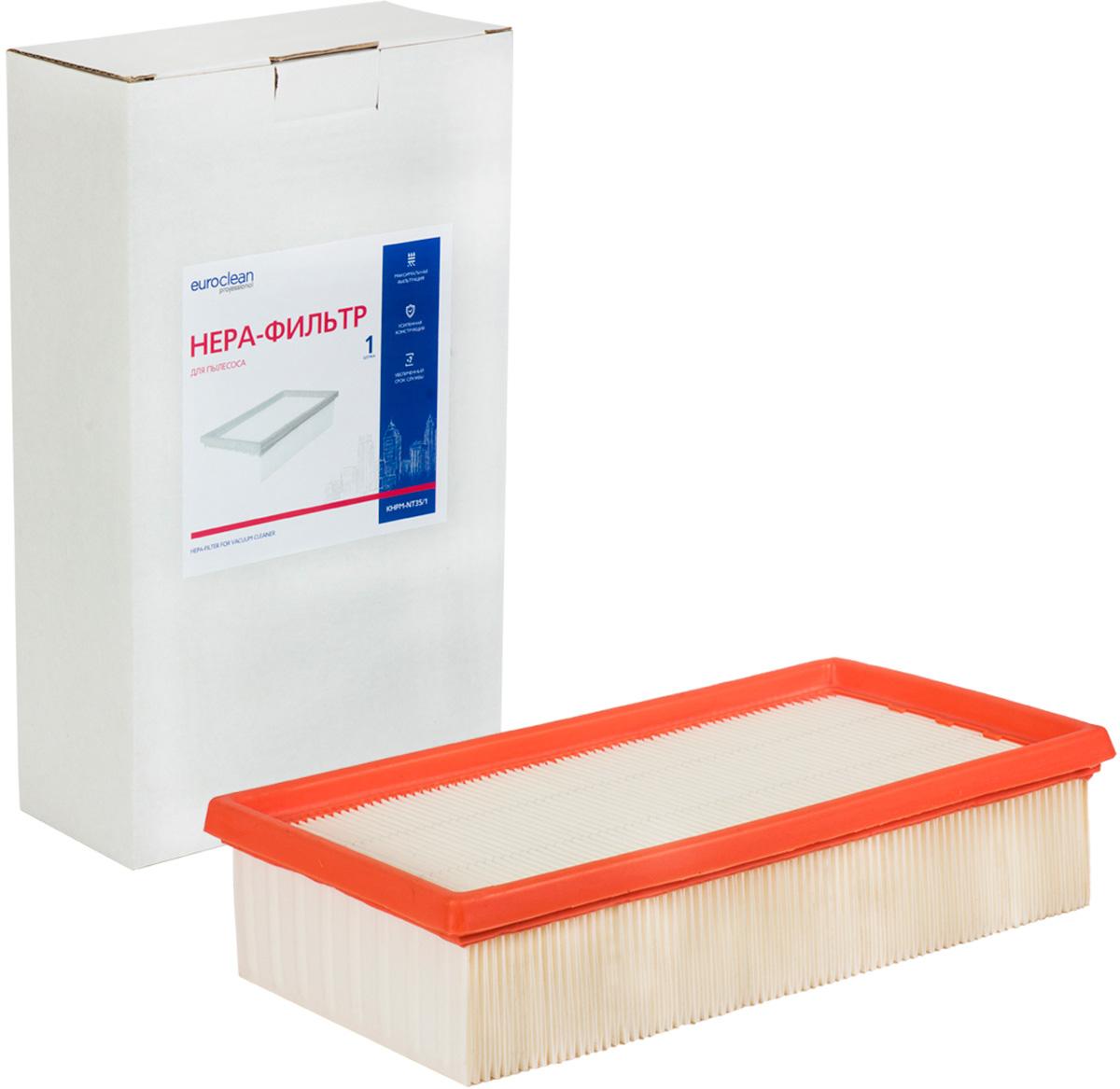 Euroclean KHPM-NT35/1 фильтр складчатый для сухой пыли к пылесосам KARCHER (аналого 6.904-367.0) euroclean flsm as20 фильтр складчатый многоразовый моющийся для пылесосов felisatti as20 1200