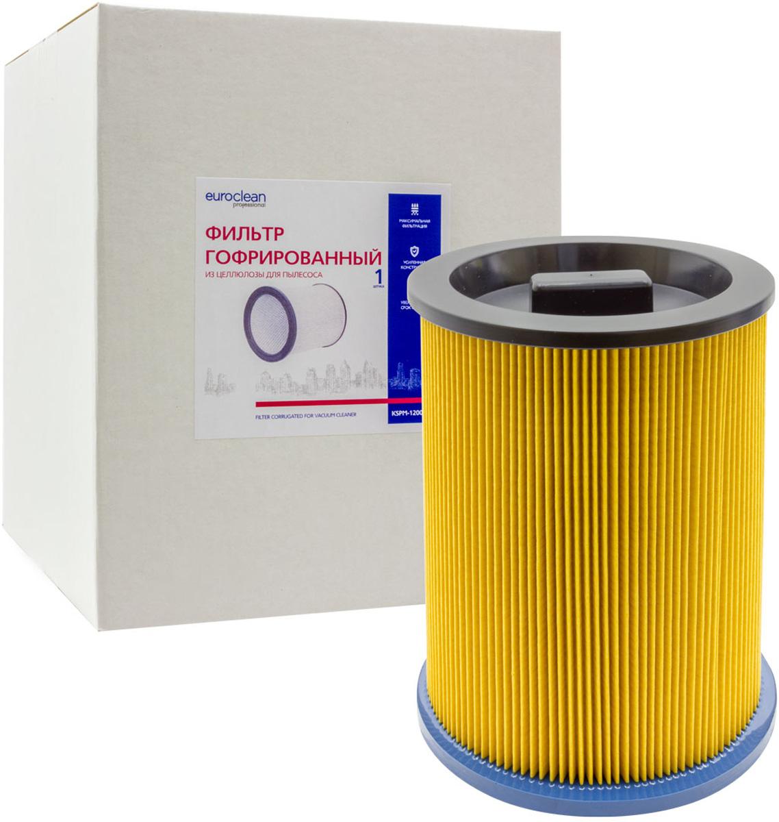 Euroclean KSPM-1200NTX фильтр складчатый для сухой пыли к пылесосам Kress (аналог 98043501) euroclean flsm as20 фильтр складчатый многоразовый моющийся для пылесосов felisatti as20 1200
