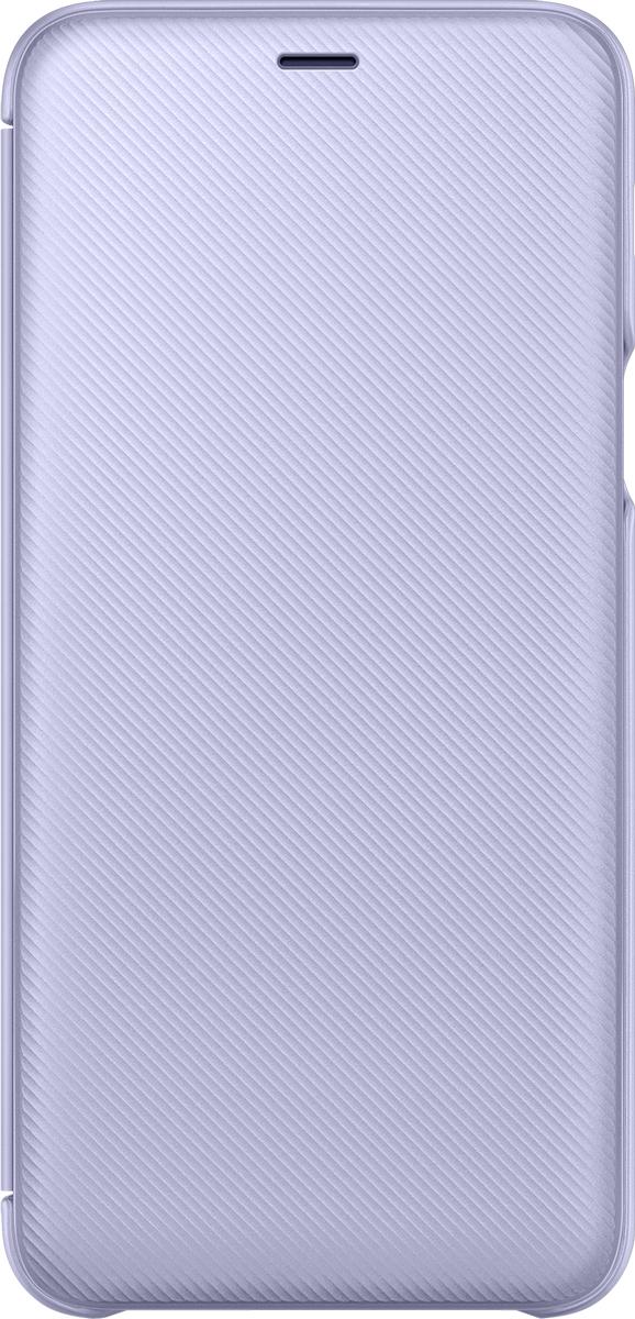 Samsung Wallet Cover чехол для Samsung Galaxy A6+ (2018), Violet mooncase senior leather flip wallet card slot bracket back чехол для cover samsung galaxy a7 браун