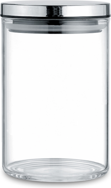 """Банка """"TimA"""" для сыпучих продуктов изготовлена из боросиликатного прозрачного стекла, что позволяет всегда легко определить, какой продукт в ней находится, и имеет цилиндрическую форму. Крышка банки изготовлена из металла со специальными силиконовыми вставками,которые обеспечивают плотное прилегание крышки к стеклу, что предохраняет содержимое банки от контакта с внешней средой."""