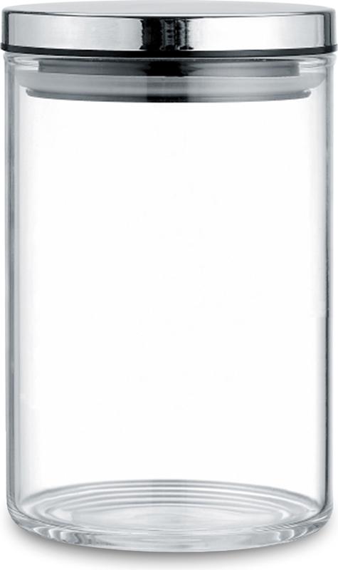 """Банка """"TimA"""" для сыпучих продуктов изготовлена из боросиликатного  прозрачного стекла, что позволяет всегда легко определить, какой продукт в ней  находится, и имеет цилиндрическую форму. Крышка банки изготовлена из  металла со специальными силиконовыми вставками, которые обеспечивают  плотное прилегание крышки к стеклу, что предохраняет содержимое банки от  контакта с внешней средой."""