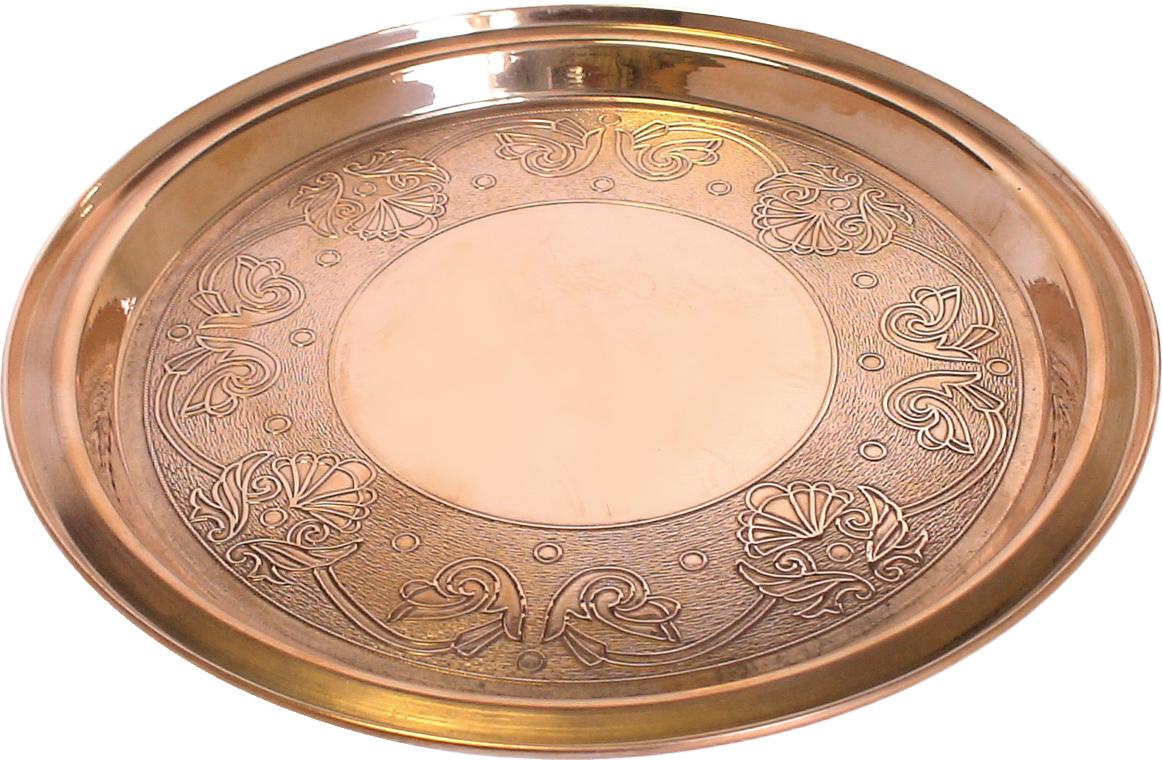 """Поднос медный TimA """"Орнамент"""" изготовлен из листовой меди марки М1М. Поднос станет не только незаменимым атрибутом кофейных и чайных церемоний, но и ярким украшением стола . Этот поднос идеально сочетается с медными турками TimA"""