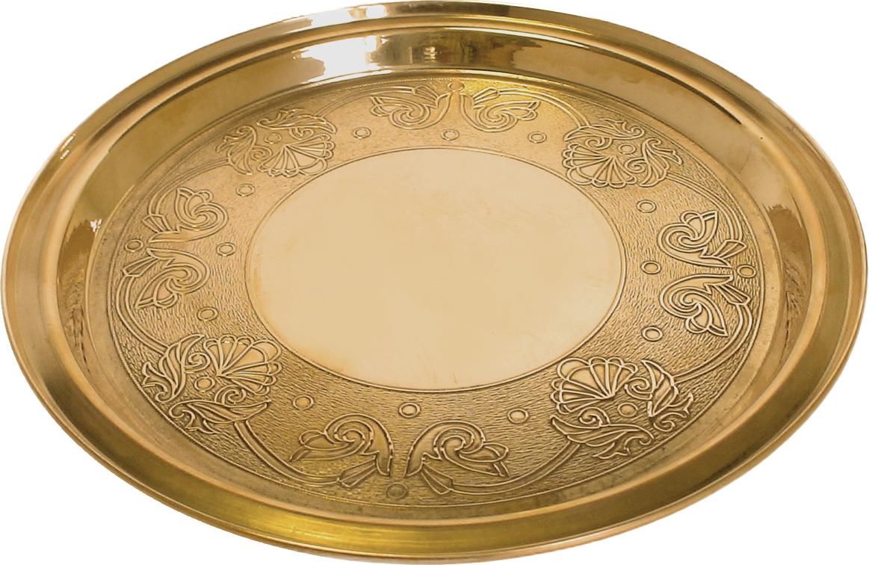 Поднос латунный TimA изготовлен из листовой латуни. Поднос станет не только незаменимым атрибутом кофейных и чайных церемоний, но и ярким украшением стола .