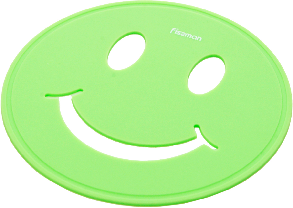 Подставка под горячее Fissman Улыбка, цвет: зеленый, 17 х 17 х 0,5 см