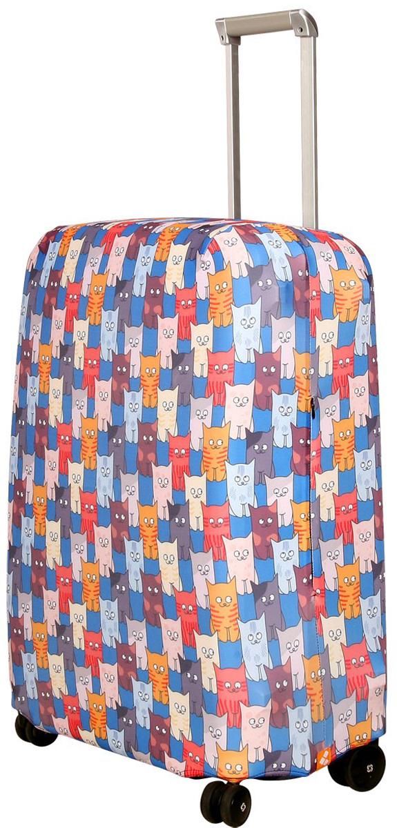 Чехол для чемодана Routemark Шкодастрофа, размер M/L (65-74 см)