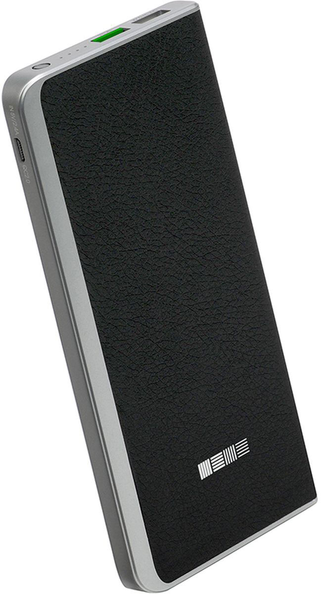 Interstep PB8000QC, Black внешний аккумулятор (8 000 мАч) interstep pb15000qc4u внешний аккумулятор 15000 мач