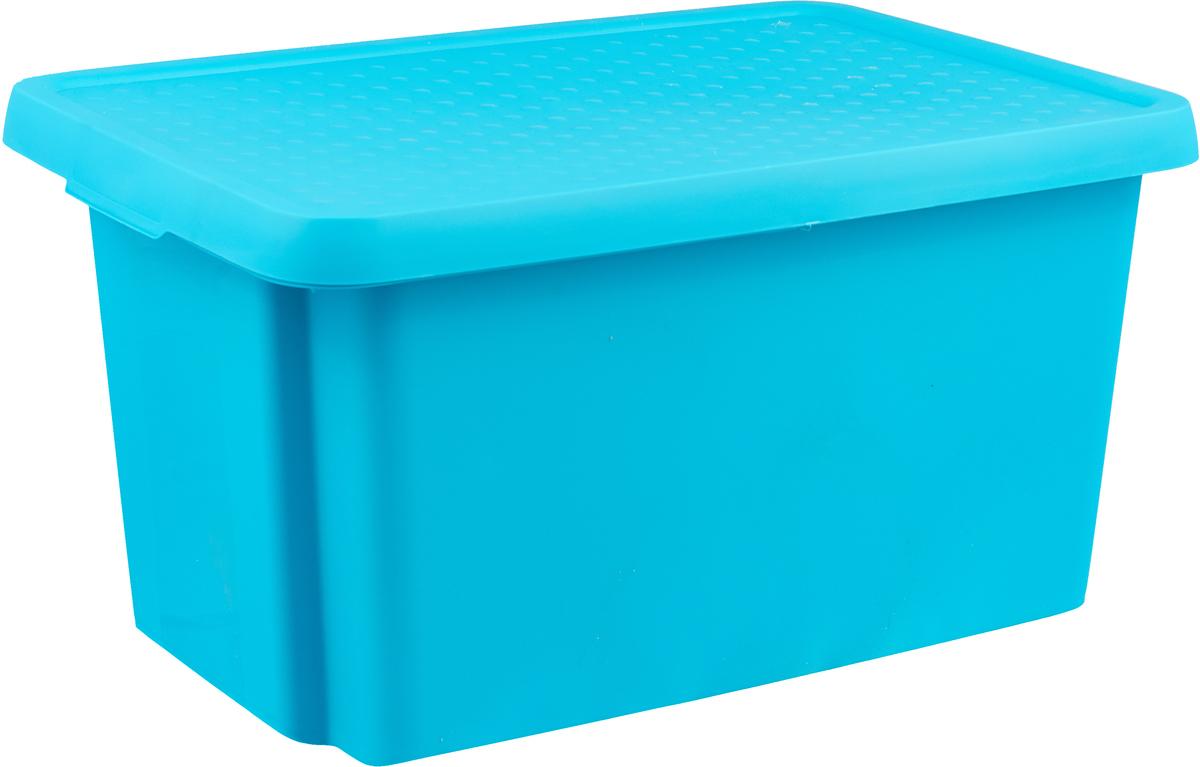 Коробка для хранения Curver Essentials, с крышкой, цвет: бирюзовый, 45 л 5pcs 32 pin round dip ic socket adapter 32pin pitch 2 54mm connector