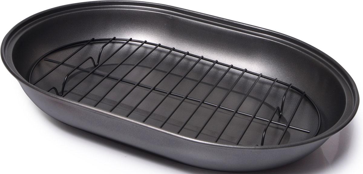 Форма для выпечки изготовлена из углеродистой стали с антипригарным покрытием InnoTech Pro и обладает превосходными антипригарными свойствами. Не содержит в составе вредных веществ.  Прилагаемая решетка поднимает ингредиенты, обеспечивая быстрое, равномерное и низкожировое приготовление, поскольку пища не готовится  в собственном жире. Металлическая форма найдет свое применение для выпечки большинства кулинарных шедевров. Металлические стенки быстро распределяют тепло, выпечка пропекается равномерно.  Благодаря антипригарному покрытию, готовый продукт легко вынимается, а чистка формы не составит большого труда. Какое бы блюдо вы не приготовили, результат будет превосходным!