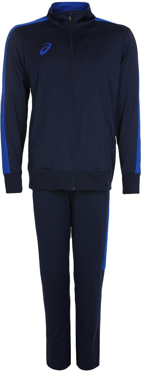 Костюм спортивный мужской Asics Man Poly Suit: куртка, брюки, цвет: синий. 156854-0891. Размер XL (52)