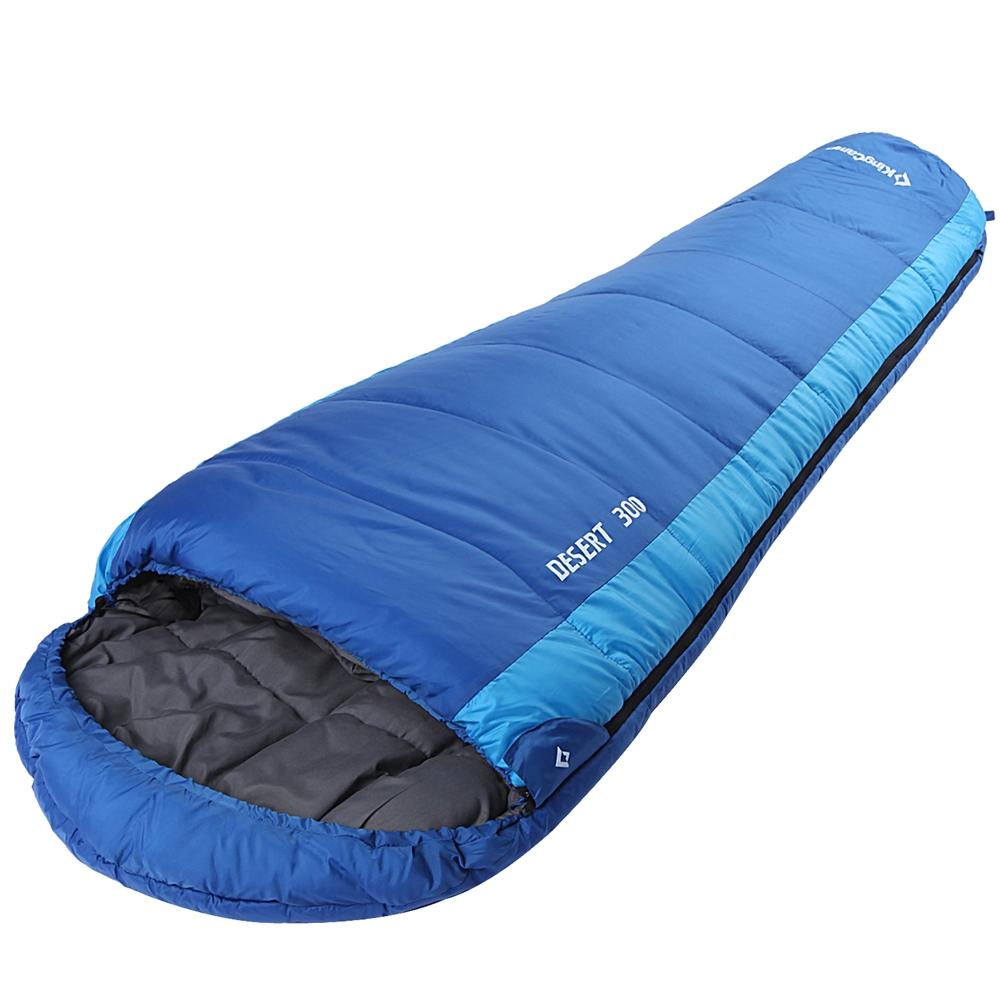 Спальный мешок-кокон KingCamp Desert 300, правосторонняя молния, цвет: синий