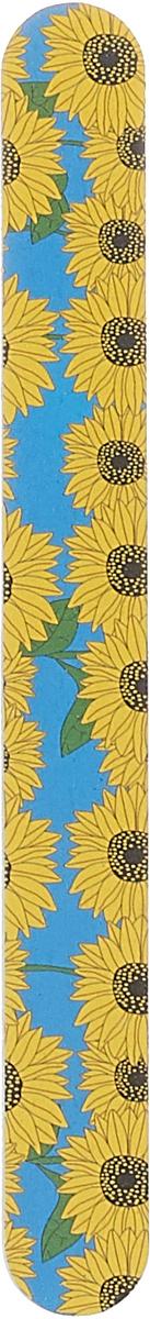 Cute-Cute Пилка маникюрная прямая, цвет: голубой, желтый, 100/180 kinetics пилка для натуральных ногтей 180 180 white turtle