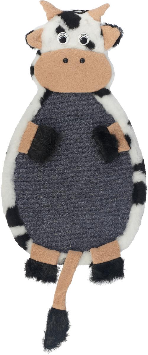 Когтеточка Зооник Коровка, подвесная, цвет: серый, 53 х 29 х 3 см. 22373 когтеточка зооник мишка сизаль 51 11см