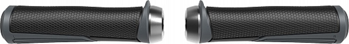 Грипсы BBB Cobra, цвет: темно-серый, длина 142 мм, 2 шт