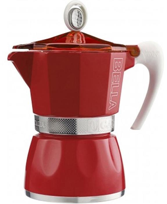 Гейзерная кофеварка G.A.T. на 3 порции выполнена из алюминия. Изделие состоит  из двух частей (для молотого кофе и для воды), соединенных между собой.  Кофеварка имеет эргономичную термостойкую ручку, которая всегда остается  холодной. Специальное внутреннее покрытие обеспечивает легкость очистки.   Принцип работы гейзерной кофеварки: кофе заваривается путем прохождения  горячей воды или пара через слой молотого кофе. Удобство кофеварки в том, что  вся кофейная гуща остается во внутренней емкости.  Кофеварка предназначена для приготовления кофе на электрических, газовых,  стеклокерамических и других различных поверхностях, кроме индукционных.