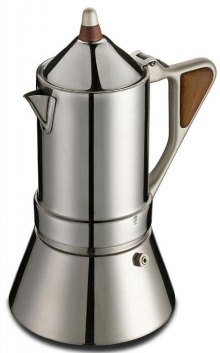 """Гейзерная кофеварка G.A.T. """"Regina"""" подойдет любителям оригинального и элегантного стиля. Кофеварка выполнена из нержавеющей стали, а значит подойдет для всех типов нагревательных поверхностей, включая индукционные."""