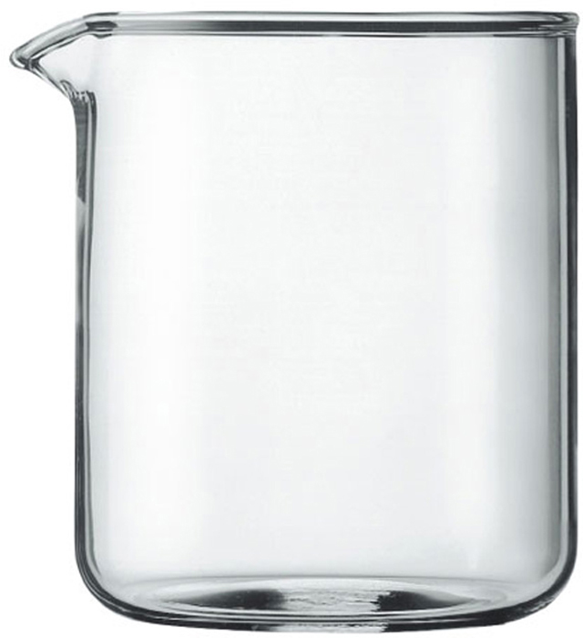 """Колба для кофейников """"Bodum"""" изготовлена из боросиликатного стекла, которое придает изделию лаконичный дизайн, обладает жаропрочностью и потрясающей легкостью. Стекло сохраняет ваш кофе или чай приятно теплым. Колба прослужит вам долгое время и не потускнеет даже после многократного мытья в посудомоечной машине.  Колба подходит для кофейников серии """"Bistro"""" и """"Chambord"""".     Характеристики:  Материал:  боросиликатное стекло. Объем колбы:  0,5 л. Высота колбы:  12 см. Диаметр колбы по верхнему краю (без учета носика):  10 см. Размер упаковки:  10 см х 13 см х 10 см. Производитель: Швейцария. Артикул: 1504-10."""