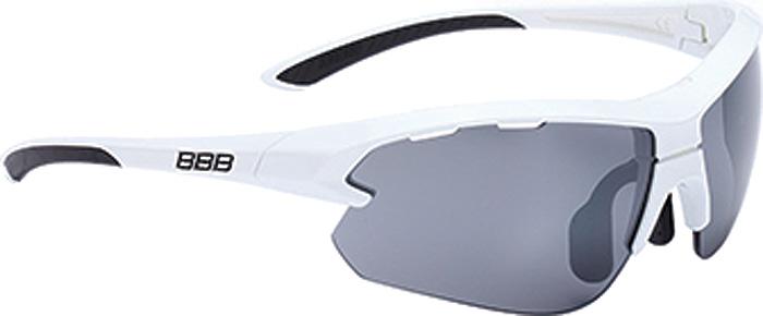 Очки солнцезащитные велосипедные BBB 2018 Impulse small PC Smoke Flash Mirror Lenses, цвет: белый, черный