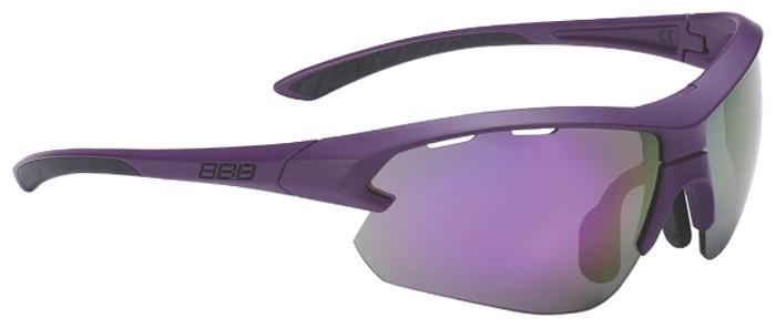 Очки солнцезащитные велосипедные BBB 2018 Impulse small PC Smokepurple MLC Lenses, цвет: красный, черный