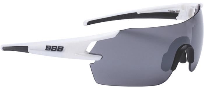 Очки солнцезащитные велосипедные BBB 2018 FullView PC Smoke Flash Mirror Lens, цвет: белый, черный