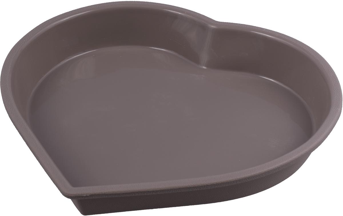 Форма в виде сердца выполнена из жаропрочного силикона. Идеально подходит для выпечки пирогов и тортов. Можно мыть в посудомоечной машине.