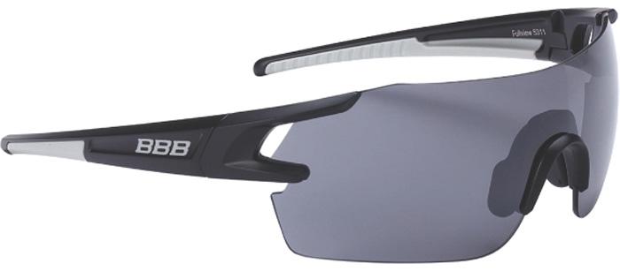 Очки солнцезащитные велосипедные BBB 2018 FullView PC Smoke Flash Mirror Lens, цвет: черный, металл