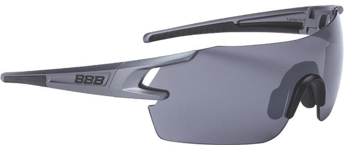 Очки солнцезащитные велосипедные BBB 2018 FullView PC Smoke Flash Mirror Lens, цвет: черный, серый