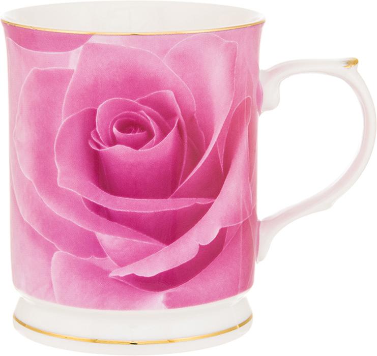 Кружка Elan Gallery Роза, цвет: розовый, 400 мл кружки elan gallery кружка ветка сирени