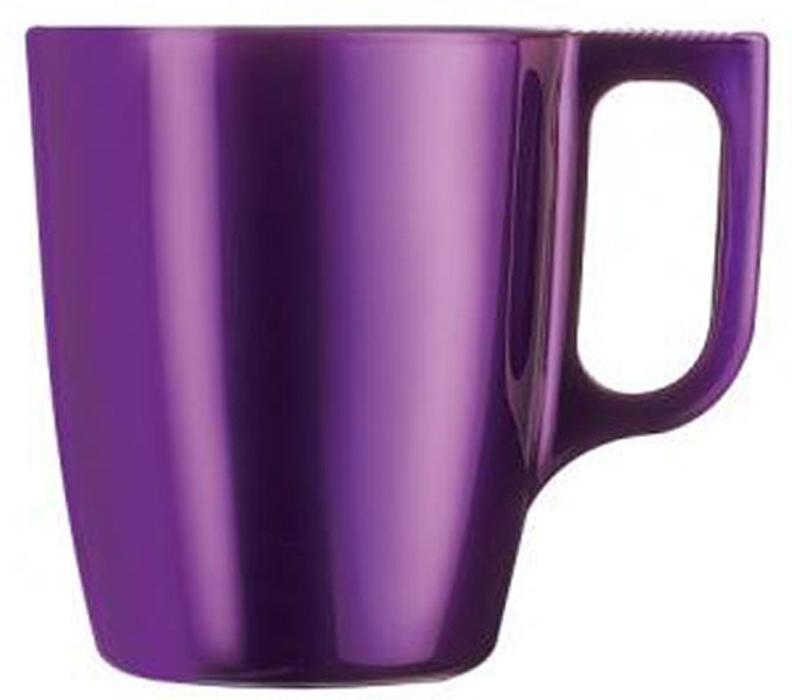 Кружка Luminarc Flashy Colors, цвет: фиолетовый, 250 мл бульонница luminarc flashy colors 500 мл фиолетовый