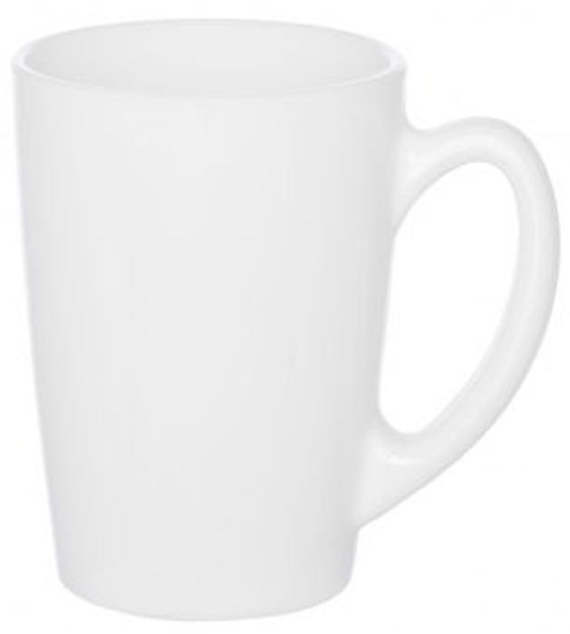 """Кружка """"New Morning White"""" известной марки Luminarc придется по вкусу любителям практичности и надежности.  Классическая белая кружка подчеркнет цвет и вкус любимого напитка и сделает утро по-настоящему добрым.  Изготовленная из качественного ударопрочного стекла, кружка надолго сохранит безупречную белизну.  Кружку можно мыть в посудомоечной машине и использовать в СВЧ-печи. Диаметр кружки: 8 см. Высота кружки: 11 см. Объем кружки: 320 мл."""