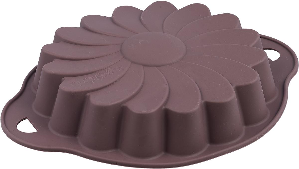 Форма для выпечки Atmosphere Provence. Ромашка, цвет: баклажанный, диаметр 23 смAT-P006_баклажанныйФорма в виде ромашки выполнена из жаропрочного силикона. Идеально подходит для выпечки пирогов. Можно мыть в посудомоечной машине.