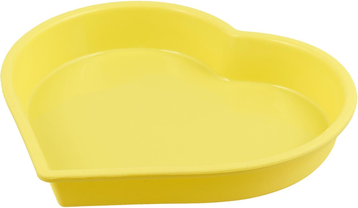 Форма для выпечки Atmosphere Сердце, цвет: желтый, диаметр 23 смAT-K294_желтыйФорма в виде сердца выполнена из жаропрочного силикона. Идеально подходит для выпечки пирогов и тортов. Можно мыть в посудомоечной машине.