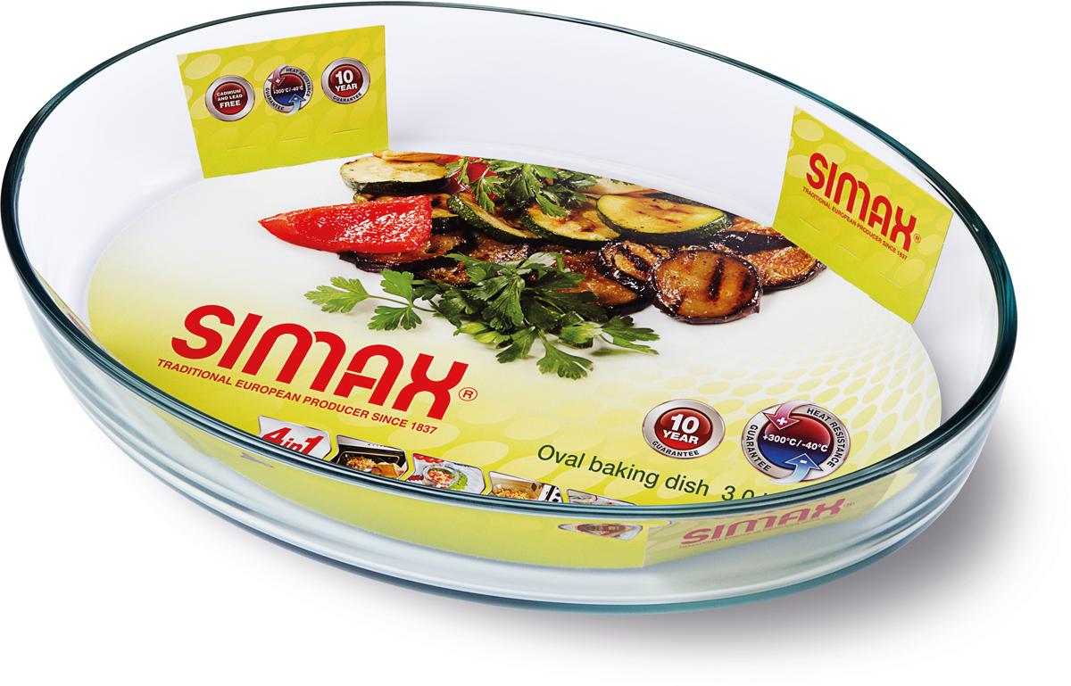 """Овальная форма для выпечки Simax """"Classic"""" изготовлена из термостойкого боросиликатного стекла. Форма будет отличным выбором для всех любителей блюд, приготовленных в духовке и микроволновой печи. Стеклянное изделие не вступает в реакцию с готовящейся пищей, а потому не выделяет никаких вредных веществ, не подвергается воздействию кислот и солей.Можно мыть в посудомоечной машине.Изделие можно хранить в холодильнике и морозилке."""