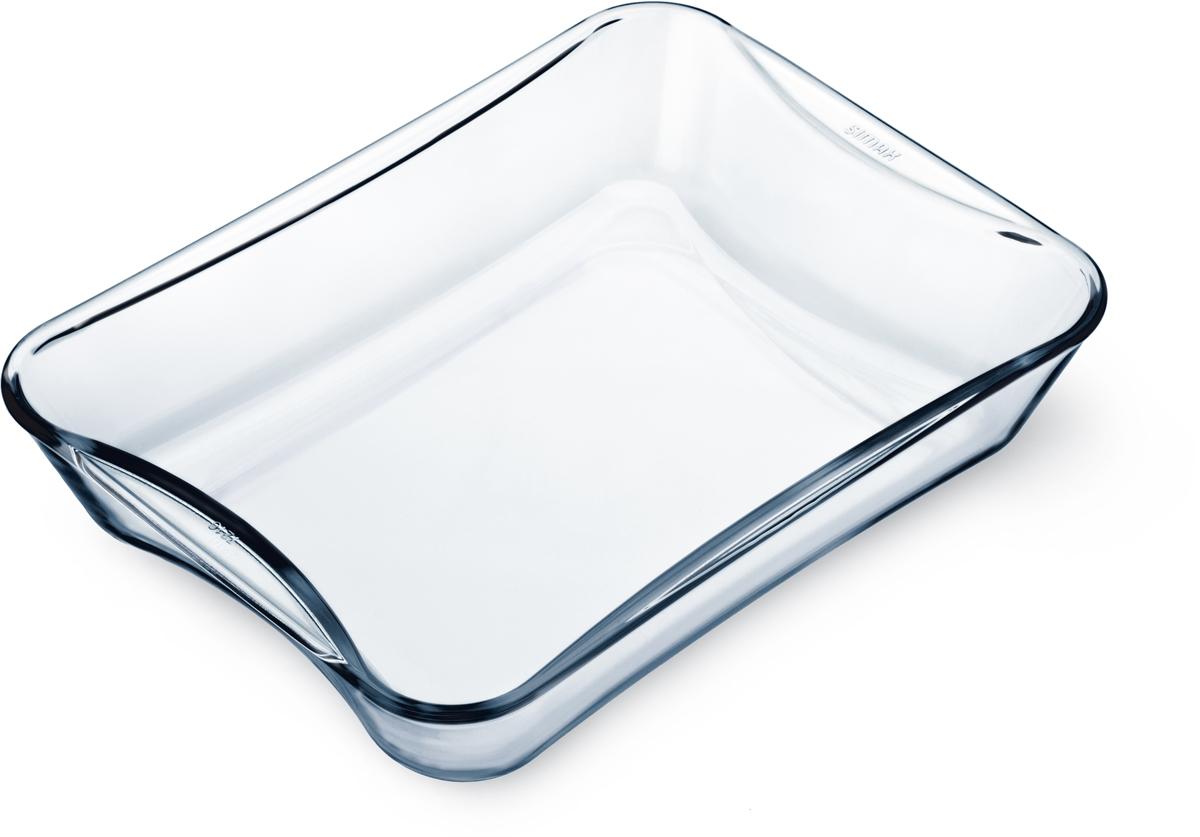"""Прямоугольная форма для выпечки Simax """"Exclusive"""" изготовлена из термостойкого боросиликатного стекла. Форма будет отличным выбором для всех любителей блюд, приготовленных в духовке и микроволновой печи. Стеклянное изделие не вступает в реакцию с готовящейся пищей, а потому не выделяет никаких вредных веществ, не подвергается воздействию кислот и солей.Можно мыть в посудомоечной машине.Изделие можно хранить в холодильнике и морозилке."""
