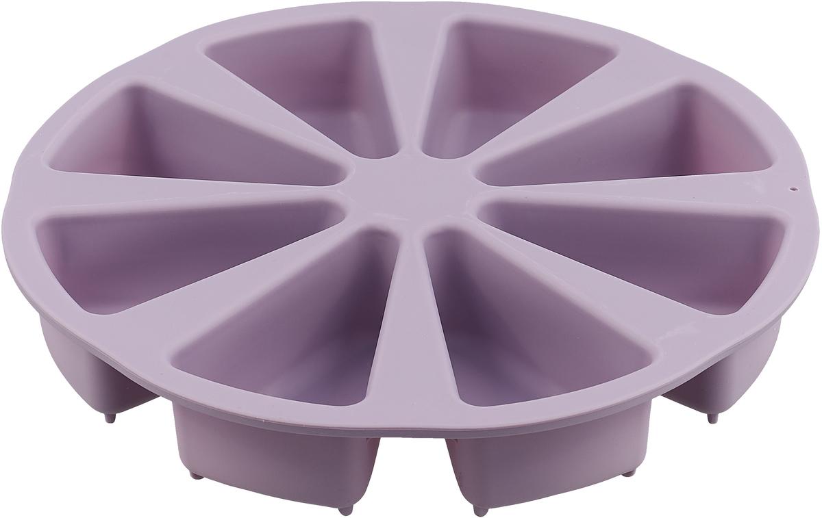 Форма выполнена из жаропрочного силикона. Идеально подходит для выпечки пирожных. Можно мыть в посудомоечной машине.
