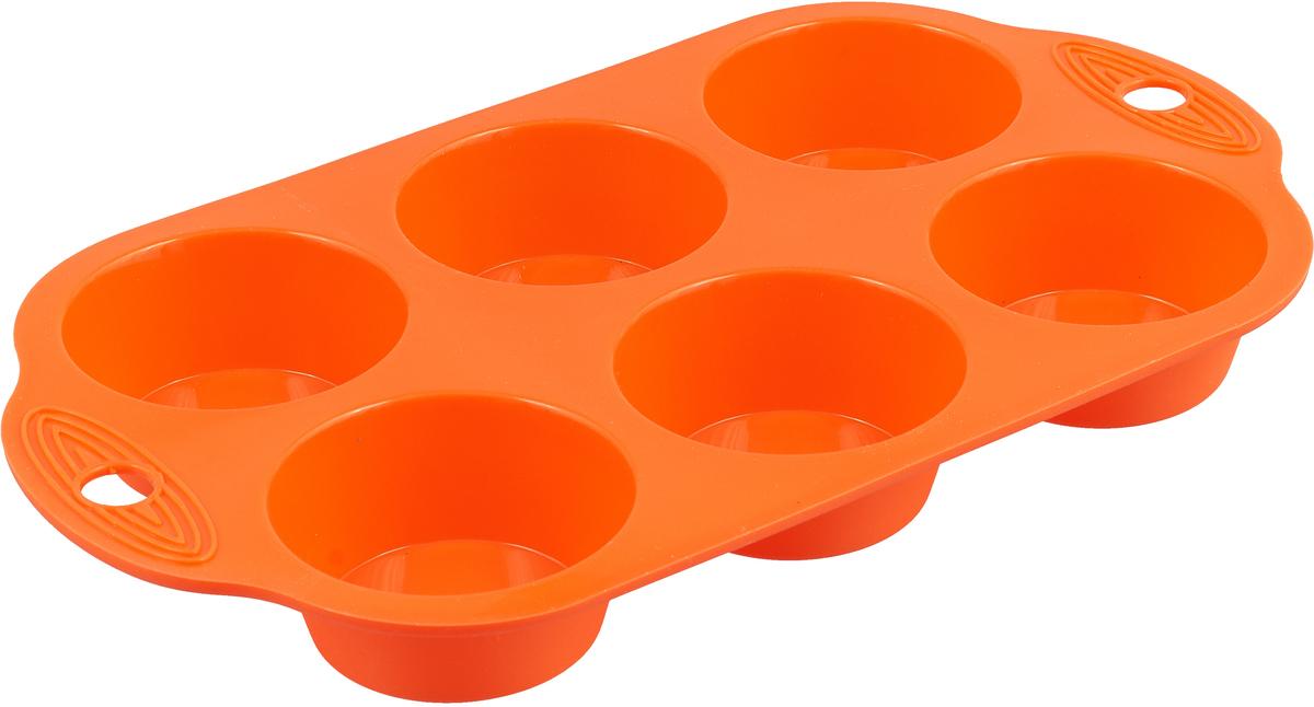 Форма выполнена из жаропрочного силикона. Идеально подходит для выпечки маффинов и капкейков. Можно мыть в посудомоечной машине.