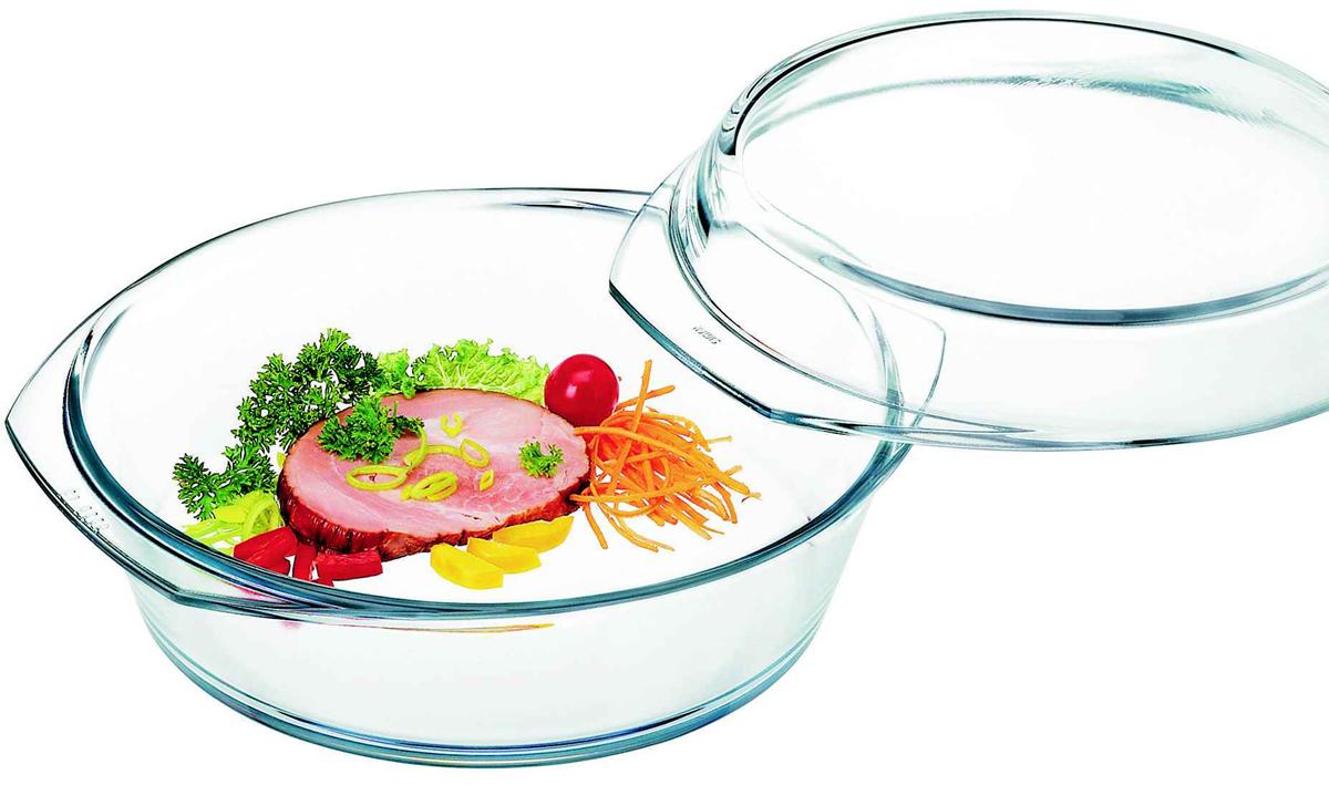 """Кастрюля Simax """"Classic"""" с крышкой выполнена из прочного стекла. Она пригодна дляприготовления пищи в духовых шкафах, микроволновых печах, на любом виде электроплит, в том числе керамических, для разогрева; охлаждения; хранения; замораживания; подачи на стол.Можно мыть в посудомоечной машине."""