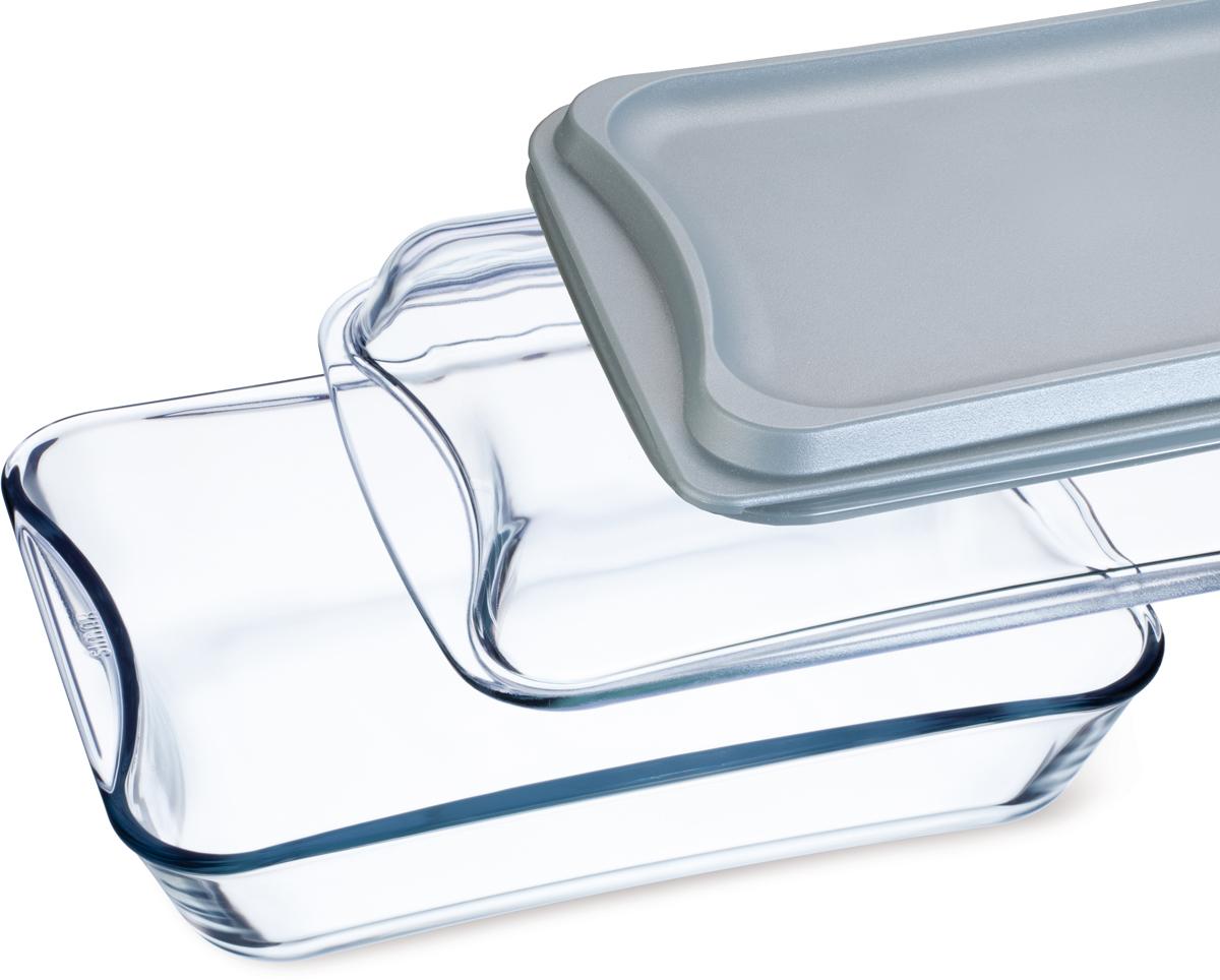 """Прямоугольная форма Simax """"Exclusive"""" изготовлена из термостойкого боросиликатного стекла. В комплекте 2 крышки из пластика и стекла. Форма будет отличным выбором для всех любителей блюд, приготовленных в духовке и микроволновой печи. Стеклянное изделие не вступает в реакцию с готовящейся пищей, а потому не выделяет никаких вредных веществ, не подвергается воздействию кислот и солей.Можно мыть в посудомоечной машине.Изделие можно хранить в холодильнике и морозилке.Объем: 4,4 л."""