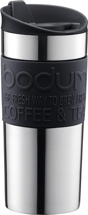 Кружка дорожная Bodum Travel, цвет: черный, 350 мл. 11068-01