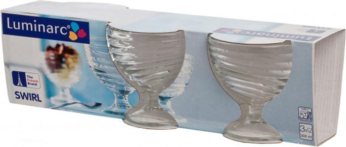 """Набор креманок для мороженого """"Luminarc"""" изготовлены из закаленного стекла. Изделия имеют гладкую поверхность, препятствующую проникновению бактерий и посторонних запахов в посуду. Можно использовать в микроволновке, мыть в посудомоечной машине. В наборе 3 креманки. Объем креманки: 300 мл."""