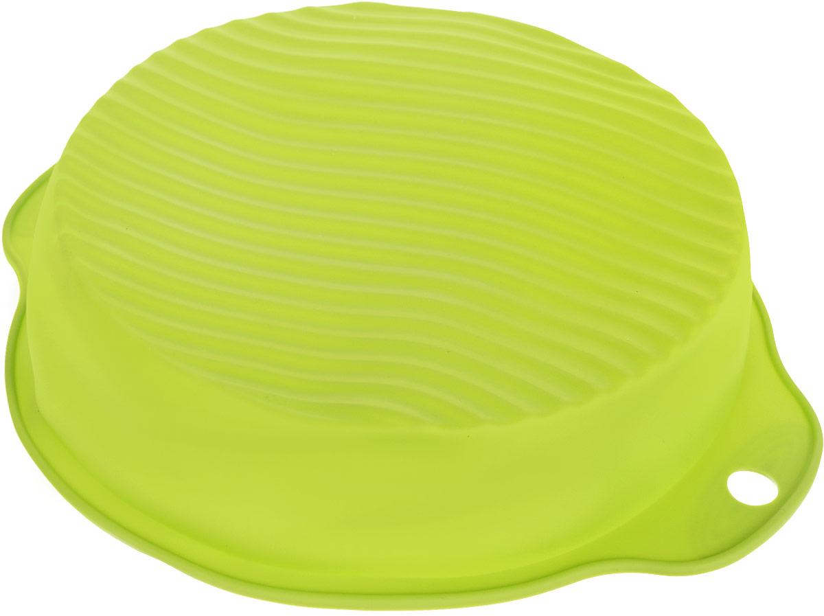 Форма для выпечки Atmosphere, цвет: зеленый, диаметр 24 смAT-K277_зеленыйФорма классического дизайна выполнена из жаропрочного силикона. Идеально подходит для выпечки пирогов и тортов. Можно мыть в посудомоечной машине.