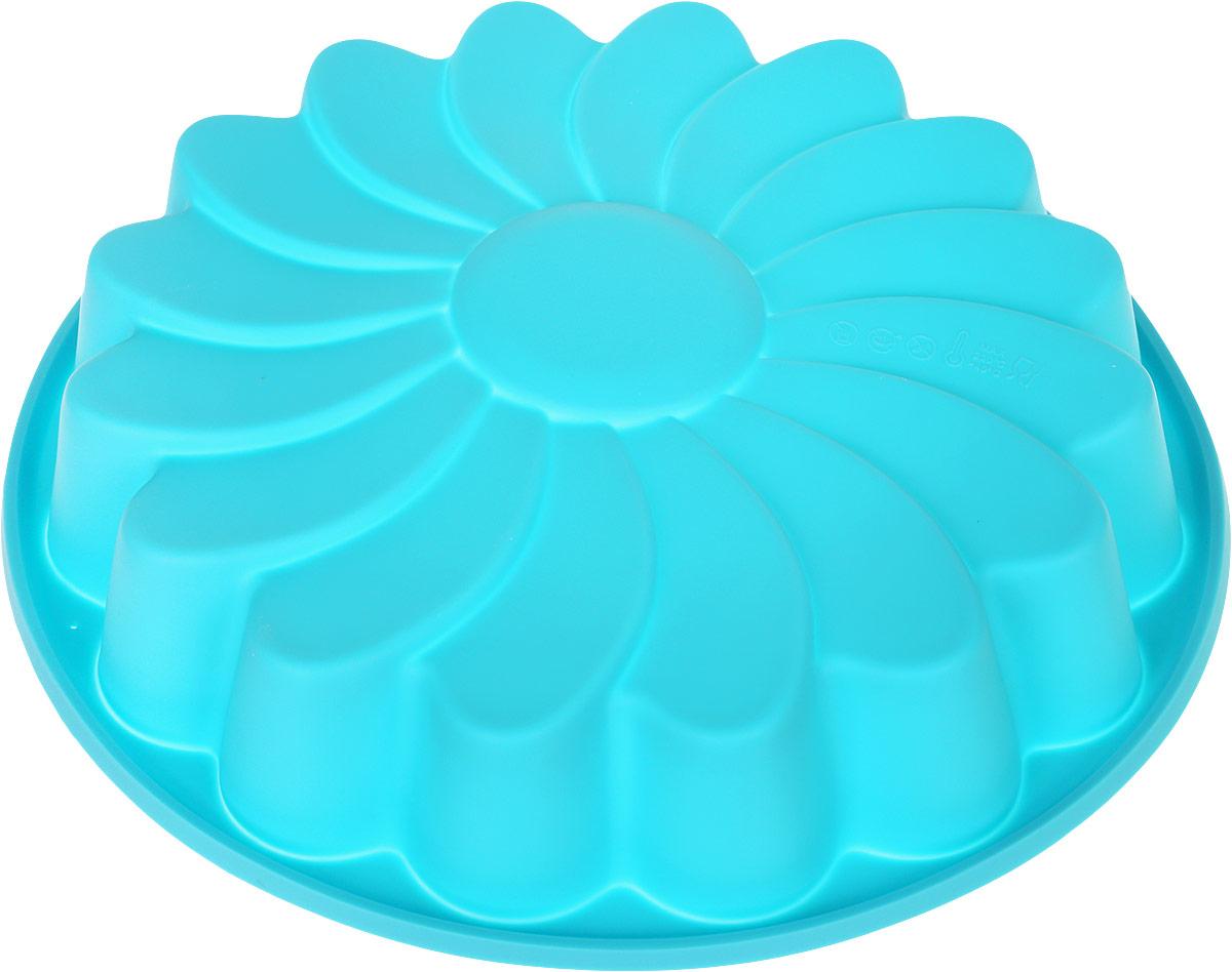 Форма в виде ромашки выполнена из жаропрочного силикона. Идеально подходит для выпечки пирогов. Можно мыть в посудомоечной машине.