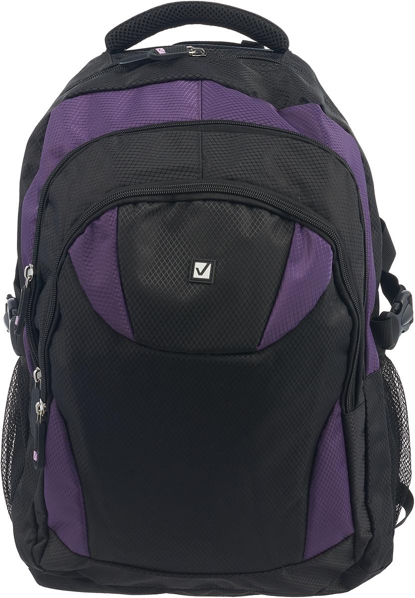 все цены на Brauberg Рюкзак Пинк цвет черный фиолетовый онлайн