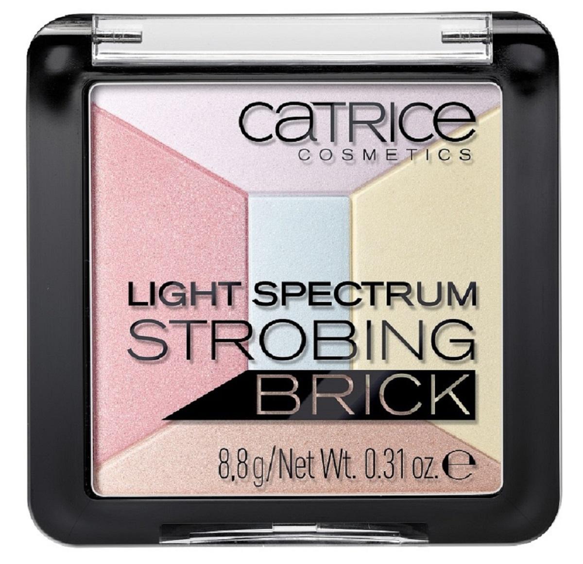 CatriceХайлайтер мультицветный 5 в 1 Light Spectrum Strobing Brick 30 Candy Cotton, цвет: разноцветный isadora палетка хайлайтеров face sculptor strobing 20 18гр